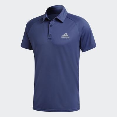 ADIDAS 上衣 短袖上衣 運動 訓練 慢跑 網球 男款 藍 FU0919