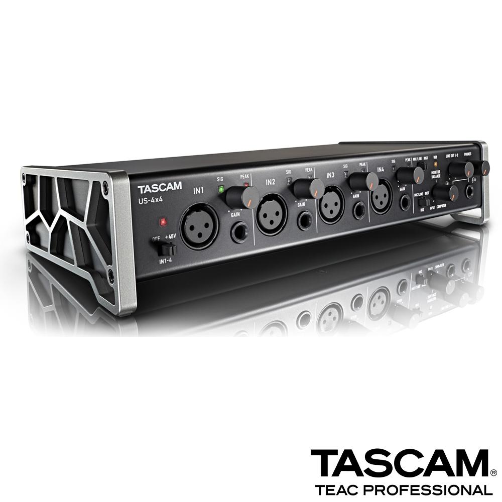 【日本TASCAM】USB 錄音介面 US-4x4