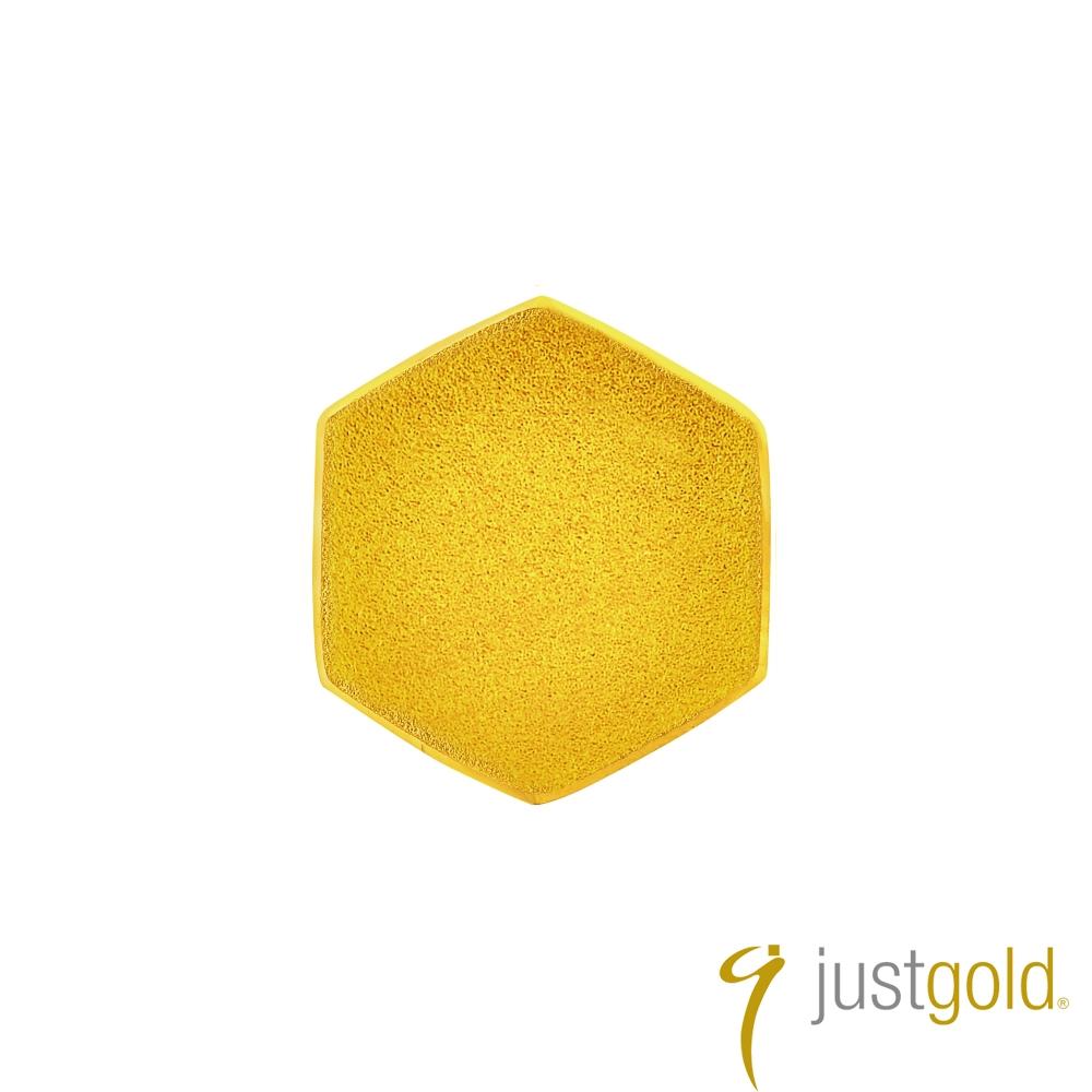 鎮金店Just Gold 搖滾蜂格純金系列 黃金單耳耳環(單粒-純金)