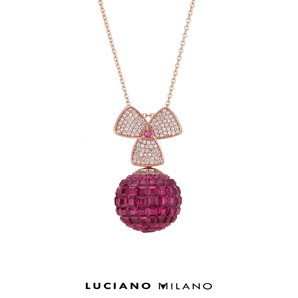 LUCIANO MILANO 復古莓莓純銀墜飾(心)