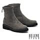 短靴 HELENE SPARK 極簡率性彈力羊絨麂布低跟厚底短靴-灰 product thumbnail 1