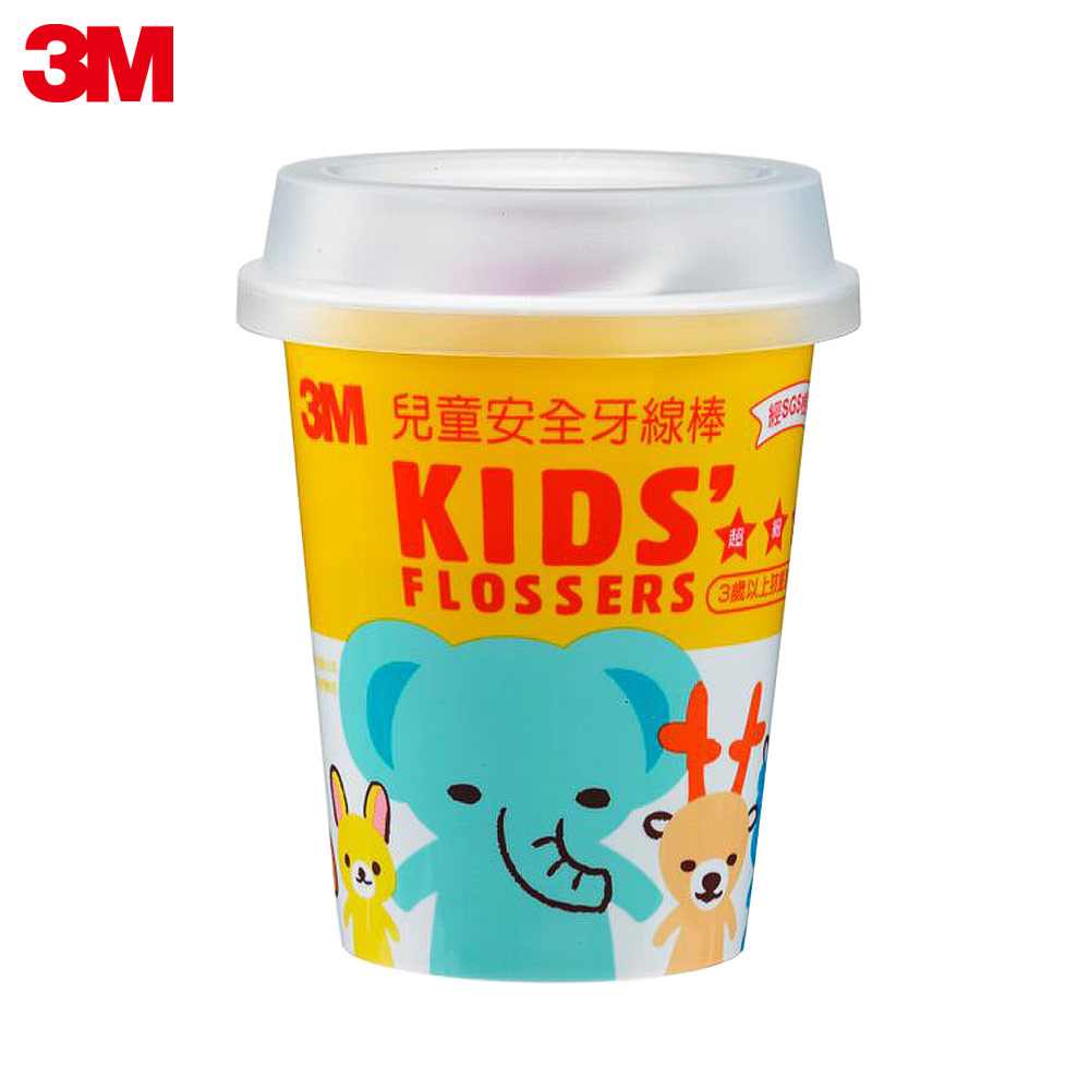 3M 兒童牙線棒(杯裝)