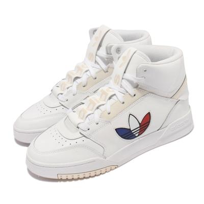 adidas 休閒鞋 Drop Step XLT 復古 男鞋 愛迪達 三葉LOGO 海外限定 高筒 白 紅 FX7693