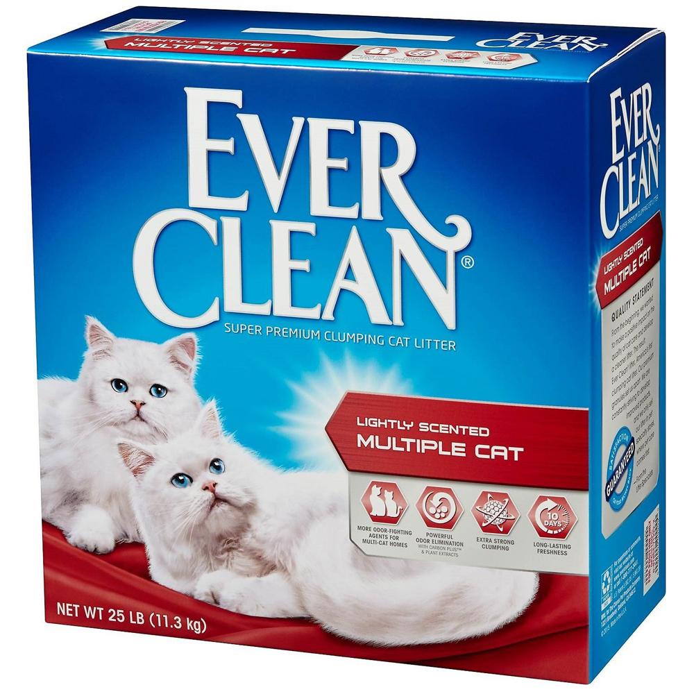 美國EverClean《藍鑽系列》活性碳除臭貓砂(紅標)-25LB