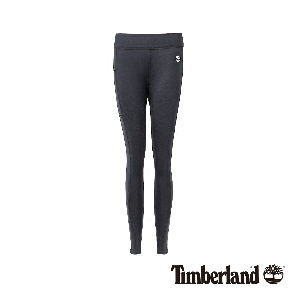 Timberland 女款黑色彈性修身運動褲 B3202