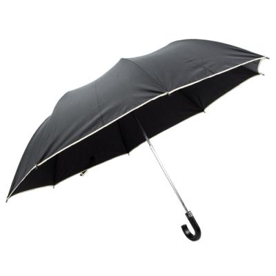 樂嫚妮 超大自動開折四人用彎把雨傘/分享傘/145cm傘面-黑