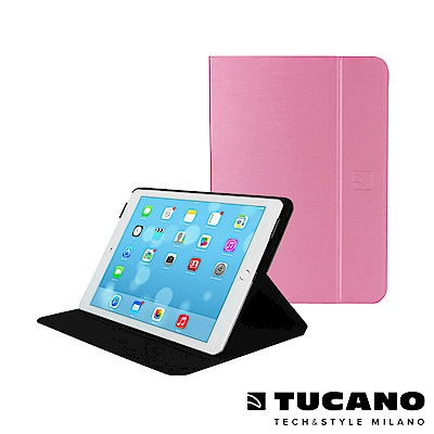 TUCANO iPad Air2 Folio 髮絲紋可站立式保護套-粉紅