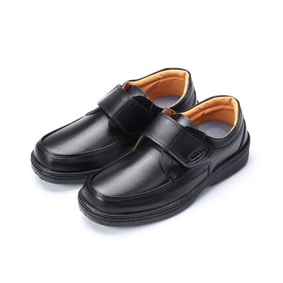 ARRIBA艾樂跑男鞋-魔鬼氈學生皮鞋-黑(FA564)