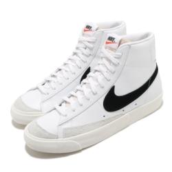 Nike 休閒鞋 Blazer Mid 77 運動 男女鞋 復古 VNTG 情侶款 球鞋 穿搭 簡約 白 黑 BQ6806100