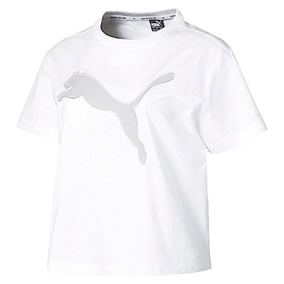 PUMA-女性基本系列Evostripe大跳豹短袖T恤-白色-亞規