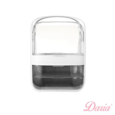 Daria「時尚女神」提把特大化妝盒 (白色)