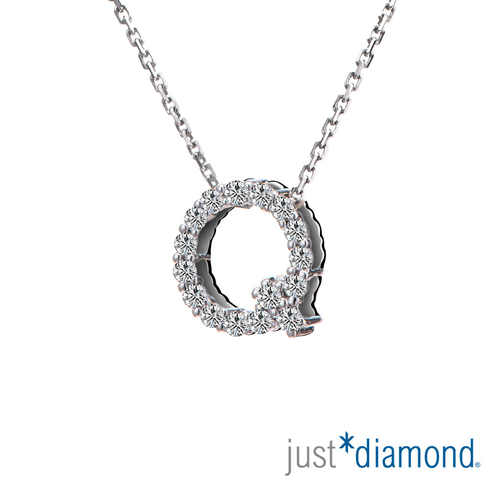 Just Diamond Love Words系列18K金鑽石墜子-Q