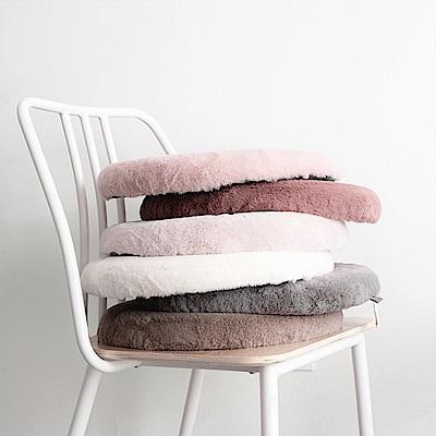 BUNNY LIFE兔絨圓形記憶棉坐墊椅墊5色可選