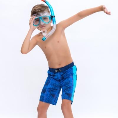 澳洲Sunseeker泳裝抗UV防曬海灘褲泳褲-大男童-字母藍4182018NAV