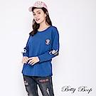 Betty Boop貝蒂 圓領膠印字母袖柔棉上衣(共兩色)