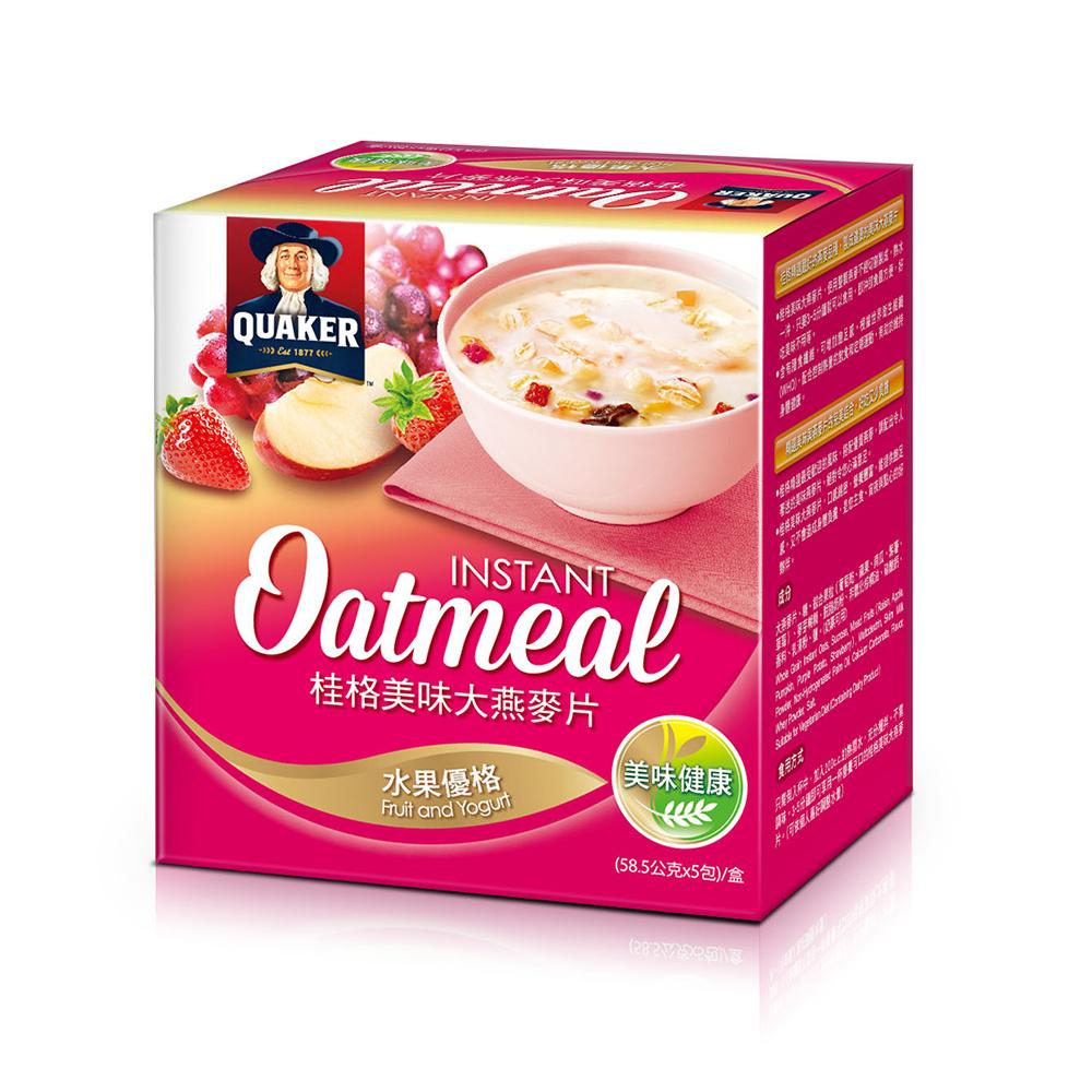 桂格 美味大燕麥片-水果優格(58.5gx5包)