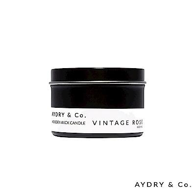 美國 AYDRY & CO. 復古玫瑰 天然手工木芯香氛 錫盒85g