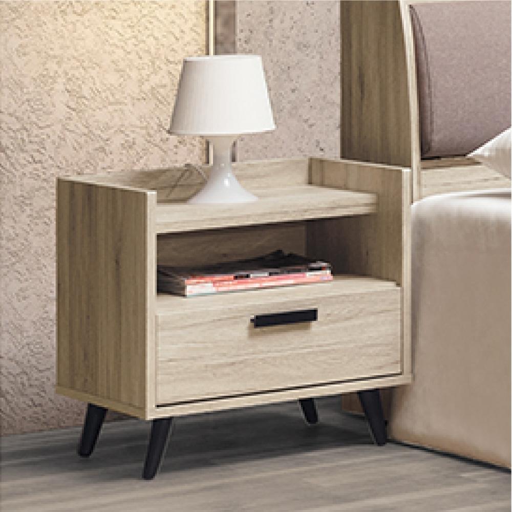 AS-溫格斯橡木色床頭櫃-51x39x54cm
