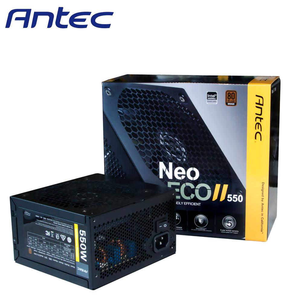 Antec 安鈦克 NEOECO II 550 550W 80PLUS銅牌 電源供應器