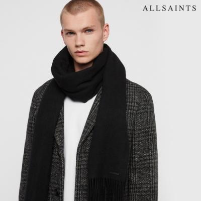 ALLSAINTS HEAVY WOOL素面厚羊毛披巾