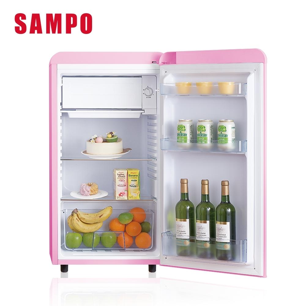 SAMPO聲寶 歐風美型 99L直冷單門小冰箱SR-C10(P) 粉彩紅