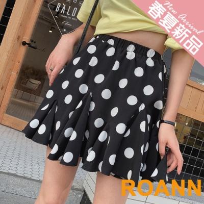 高腰不規則荷葉邊短款洋裝 (共二色)-ROANN
