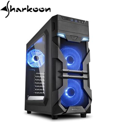 Sharkoon 旋剛 VG7-W 光影者 藍 透側 ATX 電腦機殼 電腦主機