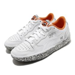 Puma 休閒鞋 Sky LX Low 聯名 男女鞋 塗鴉先生 簡約 舒適 球鞋 情侶穿搭 白 黑 37421101