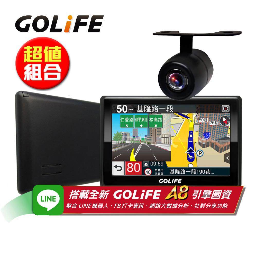 GOLiFE GoPad 5S 多功能智慧Wi-Fi 5吋聲控導航平板+R20倒車顯影鏡頭 @ Y!購物