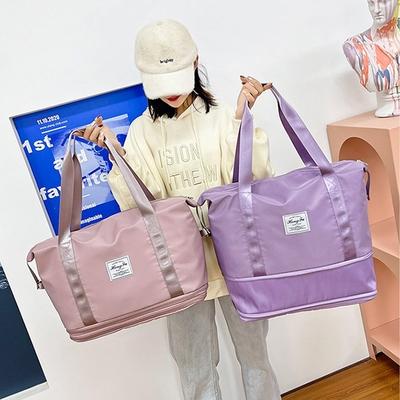 I FUN 現+預 擴充兩層乾濕分離旅行袋(健身包/旅行包/運動包)