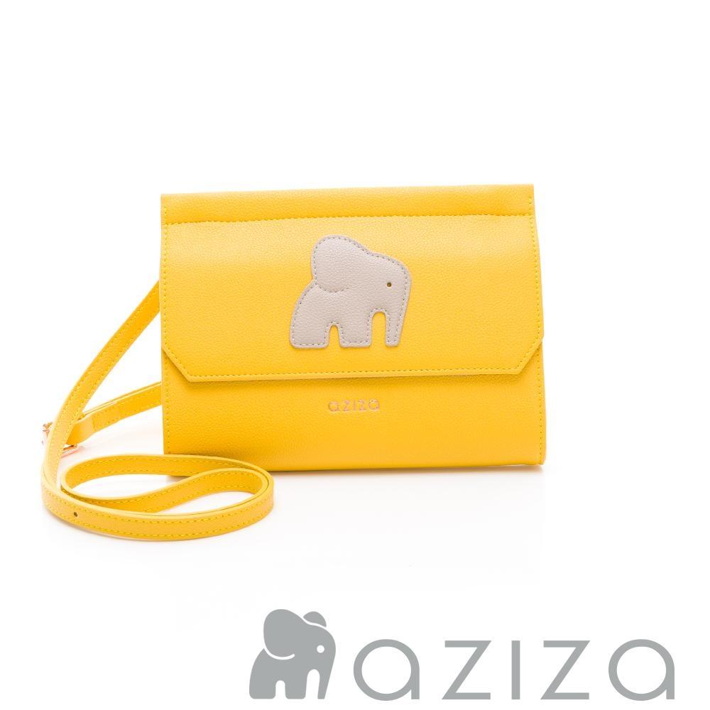 aziza ADELA 小象皮夾包 黃