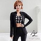 【AngelLuna日本泳裝】黑色格紋背心水母衣三件式比基尼泳衣
