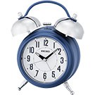 SEIKO精工 滑動式秒針貪睡鬧鐘(QHK051L)-藍