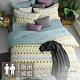 GOLDEN-TIME-忘憂薄荷島-200織紗精梳棉兩用被床包組(雙人) product thumbnail 1