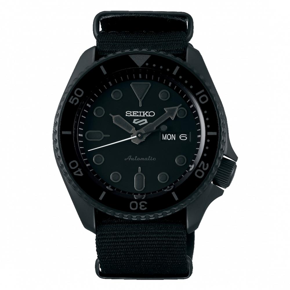 SEIKO 5 sport運動潮流機械腕錶/黑色4R36-07G0F(SRPD79K1)