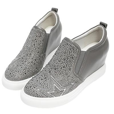Robinlo & Co.閃爍星空主題內增高休閒鞋 灰