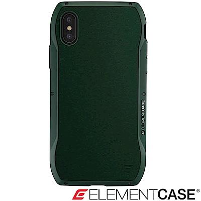 美國 Element Case iPhone XS / X Enigma旗艦真皮防摔殼-綠