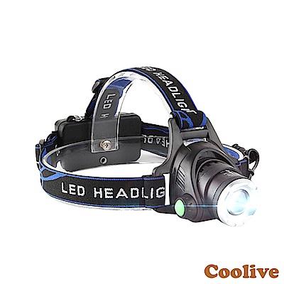 Coolive「CREE L2 LED」伸縮變焦強光頭燈