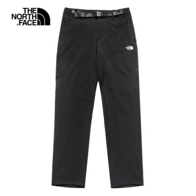 The North Face北面男款黑色防潑水戶外徒步褲|4UANJK3