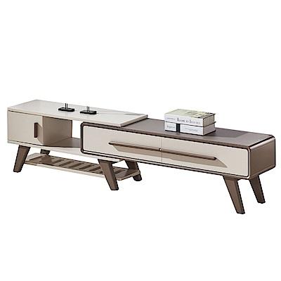 文創集 蓋利亞5尺雙色伸縮電視櫃/視聽櫃(可伸縮機能設計)-150x34x43cm免組