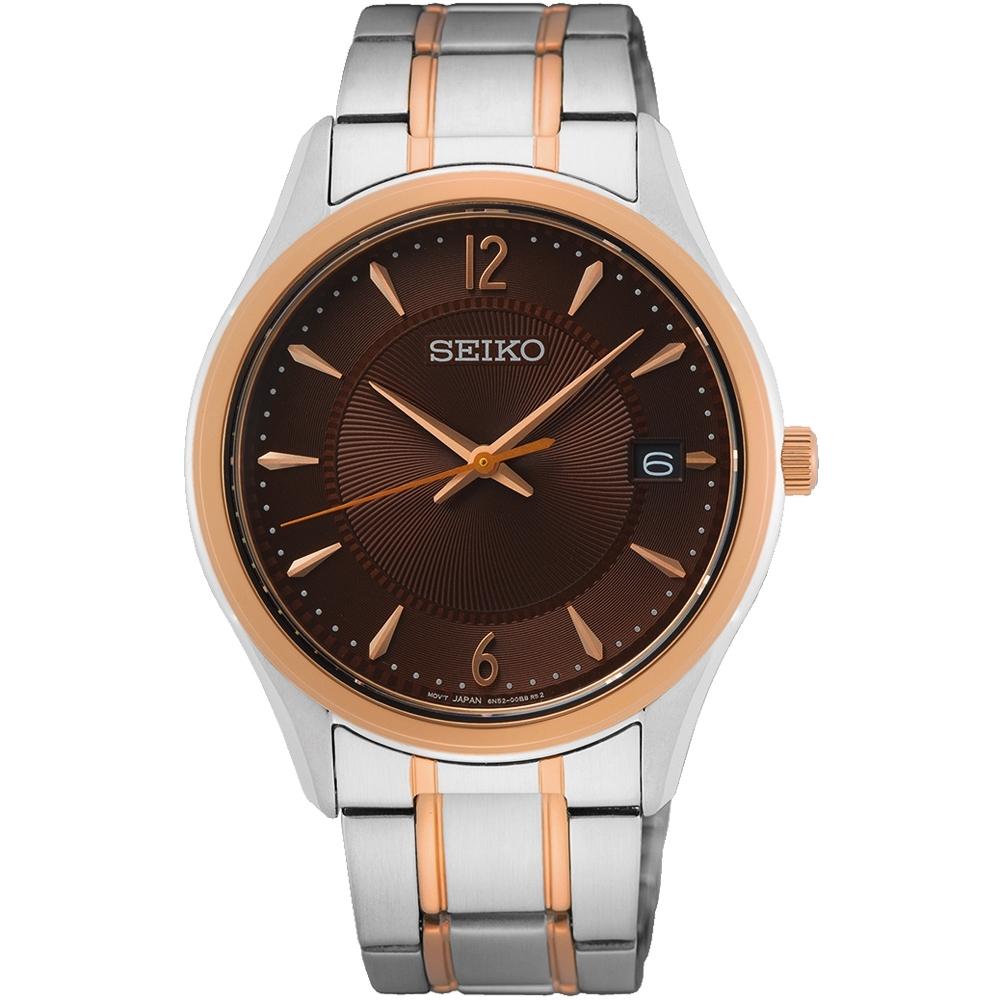 SEIKO 精工CS 經典簡約手錶-男款 39.4mm(SUR470P1/6N52-00D0B)