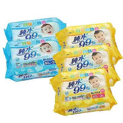 Weicker-純水99%日本製濕紙巾一般型6包厚型9包 @ Y!購物