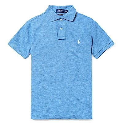 Polo Rlaph Lauren 經典電繡小馬Polo衫(Slim)-麻花水藍色