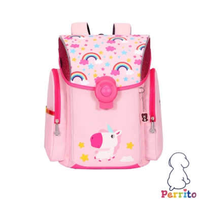 Perrito「彩虹學園」太空核心護脊兒童書包 (粉色)