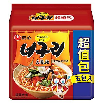 農心 香辣海鮮烏龍麵超值包(120gx5入)