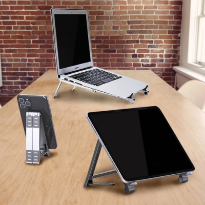 Omnivia | OA三合一變型支架 多功能支架 手機/平板/筆電 支架