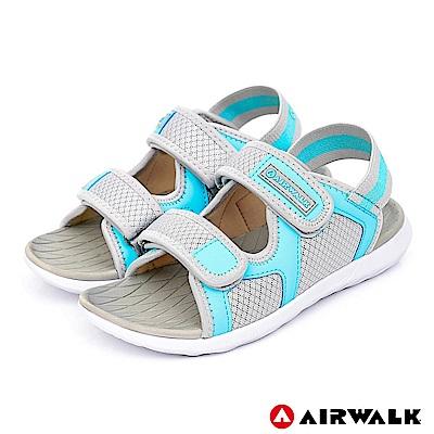 AIRWALK - 網往相連休閒涼鞋-女款-淺灰