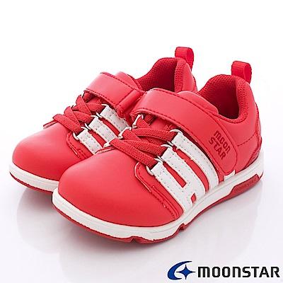 日本月星頂級童鞋 抗菌穩定運動款 TW1552紅(中小童段)