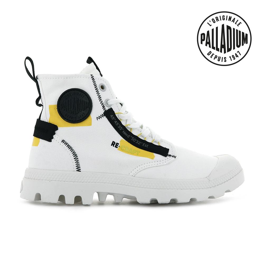 PALLADIUM PAMPA HI RE-CRAFT有機再生帆布靴-中性-白