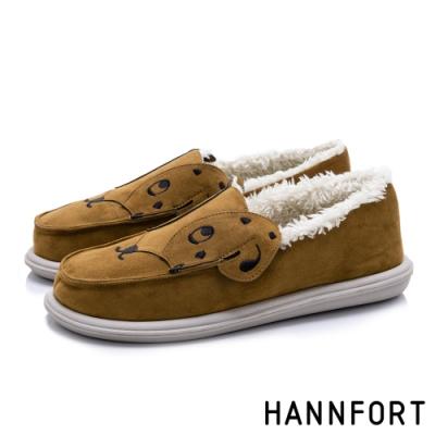 HANNFORT COZY 大麥町毛絨懶人鞋-女-棕